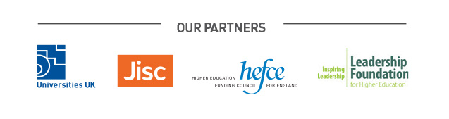 Our partners Universities UK, Jisc, Hefce and the Leadership Foundation