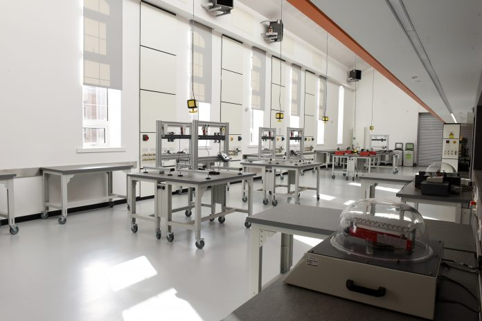 Collaborative teaching laboratory at the University of Birmingham
