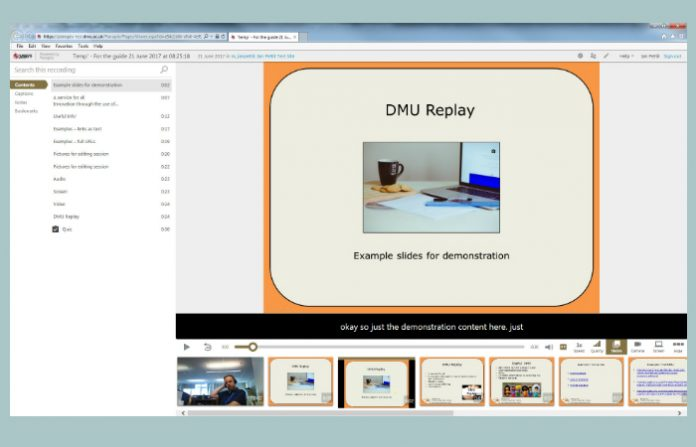 DMU Replay Student View
