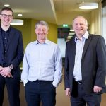 HESA's Paul Clark, Jisc's Paul Feldman and the QAA's Douglas Blackstock (L to R)