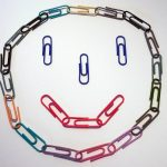 Smiley face made out of paperclips